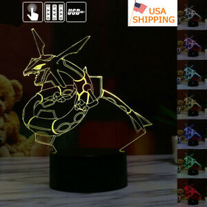 Rayquaza 3D LED Night Light Touch Table DeskLamp Brithday Christmas Gifts