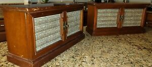 WESTINGHOUSE VINTAGE PAIR STEREOPHONIC HIGH FIDELITY SPEAKERS MAHOGANY USA