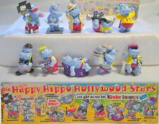 KINDER SURPRISE HIPPO HOLLYWOOD COMPLETE SET TOYS FERRERO FIGURES CAKE TOPPERS