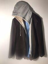 Tommy Hilfiger Hooded Faux Zipper Sweatshirt Blazer Sport Coat 42R
