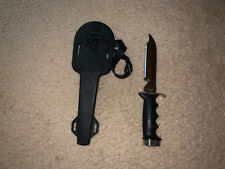 Vintage Dacor Dive Knife with Rubber Scabbard