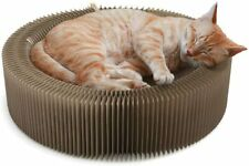 Collapsible Cat Scratcher Lounge Bed, Recycled Corrugated Scratching Round shape