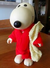 Vintage Bath Time Snoopy Jointed Rubber Doll w/Bath Robe and Towel. 1957 UFS