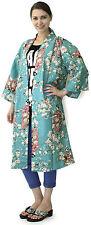 Kimono Ethnic Jacket Sakura Maiko Turquoise #873 Happi Coat NoveltyGift Hallowee