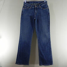 Levis 515 Blue Jeans Womens Cotton Blend Bootcut Size 6S Stretch 27 x 29