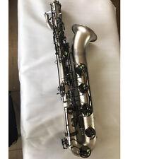 2017 Professional Satin nickel Baritone Saxophone Newest Eb Bari sax With Case