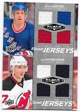 2010-11 Black Diamond Quad Jerseys Brian Leetch, QJ-BL, 3 colors, Rangers