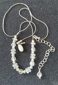 "Deb Guyot Herkimer Petite Diamond Quartz Sterling Silver Necklace 8"" + 3"" Extend"
