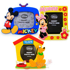 Disney Mickey Minnie Mouse Pluto Magnet Picture Frame 3pc Set Photo Frame