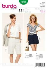 BURDA SEWING PATTERN LADIES Bermuda shorts & shorts  SIZE 8 -20 6897
