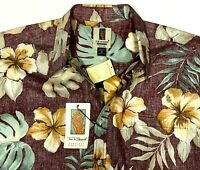 New 1990s Tori Richard Hawaiian Shirt Mens XL Floral Reverse Pattern NWT NOS