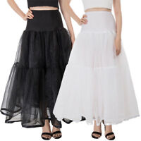 Womens Ladies Wedding Bridal Petticoat Dress Underskirt Crinoline Skirt Long 38""