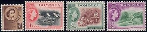 1954 Dominica SC# 142-145 - Drying Cocoa - Nature - 4 Different Stamps - M-HR