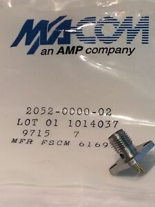 PACK OF 10 QUALITY MACOM 4 HOLE PANEL MOUNT SOLDER BUCKET 18GHz SMA FEMALE AD1D1