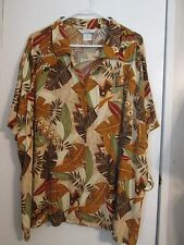 Earth Colors Short Sleeve Blouse, Size 2X, Rayon, by Napa Valley Woman