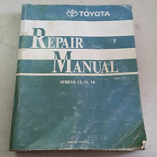 TOYOTA ELECTRIC FORKLIFT 1999 REPAIR MANUAL w/WIRING 5FBE10-13-15-18