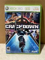 Crackdown Game for Microsoft XBOX 360 Used w/ Manual and Map Good Free Shipping