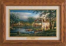 Terry Redlin Summertime Master Stroke Collection Canvas Framed Oak