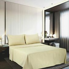 1800 Count Microfiber Solid Deep Pocket Fitted Sheet Bed Sheet Pillow Cover Sham