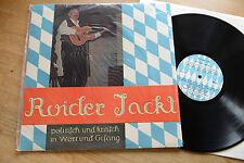 ROIDER JACKL politisch und kritisch in Wort und Gesang LP Bayroton mint