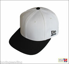 UK SELLER BRAND NEW ERA GENUINE OFF WHITE SNAPBACK CAP FLAT BILL BASEBALL HAT