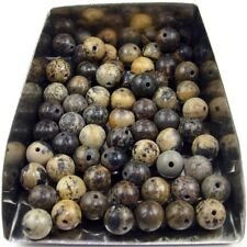 30Pcs 6mm round chinese painting jasper gemstone spacer loose beads abd bd030