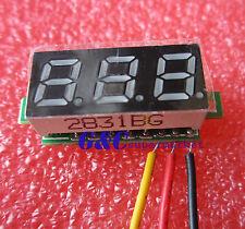 """10PCS 0.28"""" LED DC  0-100V Digital Voltmeter Panel Meter Green COLOR M90"""