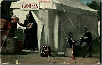 On Guard Canteen antique postcard military WW1 world war one