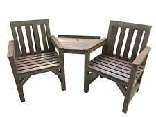 GARDEN COMPANION SEAT LOVE SEAT BENCH GARDEN   2 SEATER 100% RECYCLED PLASTIC