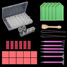 31Pcs 5D Diamond Painting Cross Stitch Tool Sticky pens Glue Tweezer Box Kit