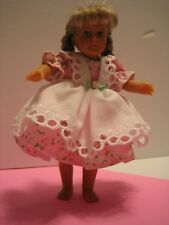 "Dress and Pinafore for 6.5"" mini doll"