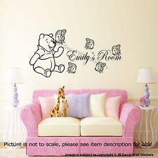 Winnie The Pooh pegatinas de pared personalizado Kid's nombre Wall Decals Decoración Infantil
