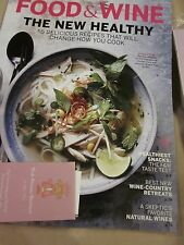 FOOD & WINE MAGAZINE MARCH 2016 THE NEW HEALTHY 55 DELICIOUS RECIPES BRAND NEW
