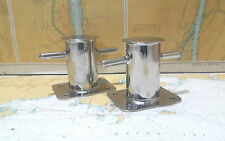 BOAT DOCK CLEAT / BOLLARD CLEAT NAUTICAL MARITIME STEEL 2 PIECES SIZE- 5.5'' (1)