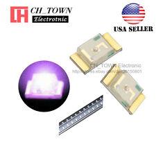 100PCS 1206 (3216) Purple/UV Light SMD SMT LED Diodes Emitting Ultra Violet USA