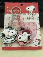 2PC Cute Snoopy Key Cap Cover Case Keyring Keychain