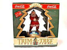 "Trim A Tree 1993 Coke Coca-Cola Santa Claus 3.5"" Christmas Holiday Ornament"