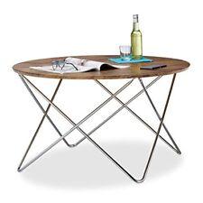 Relaxdays 10021274 723 Tavolino salotto legno Marrone 90x90x50 cm