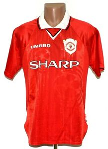 MANCHESTER UNITED 1998/1999 HOME FOOTBALL SHIRT JERSEY UMBRO SIZE M