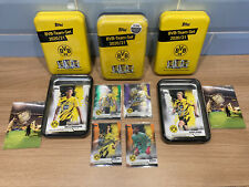 More details for x3 bvb autograph team set tins & x4 numbered parallel cards haaland bellingham