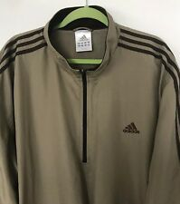 Adidas Men's 2XL Jacket Tan With Brown Trim Hard To Find Colors Roomy And Comfy