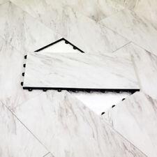"12""x24"" BASEMENT FLOORING DIY White Marble - 2 SQ FT per Tile - Made In USA"