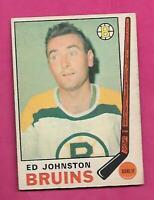 1969-70 OPC # 200 BRUINS ED JOHNSTON GOALIE EX-MT CARD (INV# D0446)