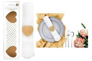 6pcs Heart Napkin Rings Serviette Holder Wedding/Engagement Dinner Table Decor