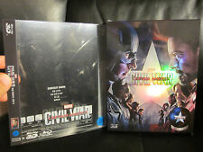 Captain America Civil War NovaMedia Full Slip [Korea] 3D Blu-Ray Steelbook w/PET