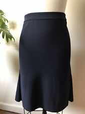 DION LEE NAVY FLARE SKIRT (labelled Size 8)