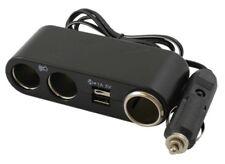 Brookstone 3 vías + USB + Cable 12V coche cargador de toma de luz