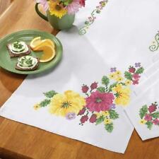 Garden in Bloom Table Runner Stamped Cross-Stitch