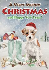"Jack Russell Terrier Dog A6 (4"" x 6"") Christmas Card (Blank inside) by Starprint"