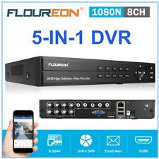 FLOUREON 8CH 1080N AHD HDMI H.264 CCTV DVR Security CCTV CAM System USB Drive UK